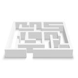Puzzle de labyrinthe sur le fond blanc Photographie stock