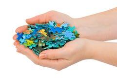 puzzle de mains Photos stock