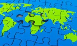 Puzzle de monde Images libres de droits