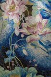 Puzzle de mosaïque d'étang de Lotus photographie stock libre de droits