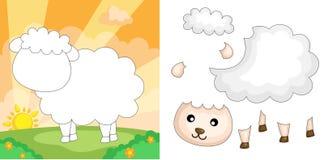 Puzzle de moutons Photographie stock