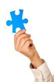 puzzle de partie de fixation d'homme d'affaires Photographie stock libre de droits