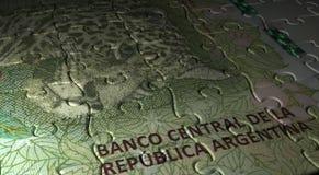 Puzzle de pesos de l'Argentine Images libres de droits