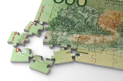 Puzzle de pesos de l'Argentine Photo libre de droits