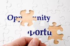 Puzzle de possibilité Photos libres de droits