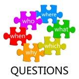 Puzzle de questions illustration de vecteur