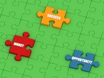 Puzzle de réussite Images libres de droits