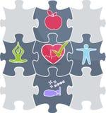 Puzzle de santé Photos libres de droits