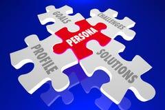 Puzzle de solutions de défis de buts de client de Person Illustration Libre de Droits