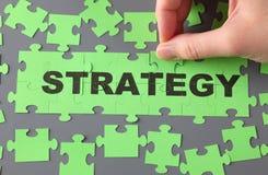 Puzzle de stratégie Images libres de droits