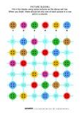 Puzzle de sudoku de photo avec les boutons de couture illustration stock