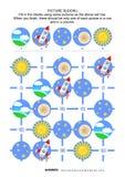 Puzzle de sudoku de photo, exploration d'espace orientée illustration libre de droits