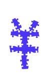 Puzzle de symbole de yuan Photos libres de droits