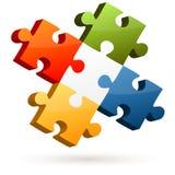 Puzzle de travail d'équipe illustration libre de droits