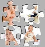 Puzzle de verticale de chéri Photographie stock libre de droits