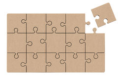 Puzzle de Zigsaw de carton Photo libre de droits