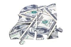Puzzle dei dollari Immagini Stock Libere da Diritti