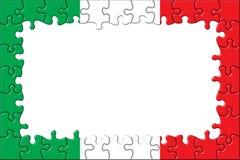 Puzzle del blocco per grafici della bandierina dell'Italia Fotografia Stock