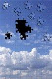 Puzzle del cielo Immagini Stock