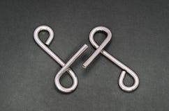 Puzzle del collegare (anello di puzzle) Fotografie Stock