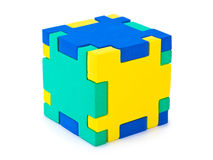 Puzzle del cubo Immagine Stock Libera da Diritti