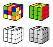 Puzzle del cubo Immagine Stock