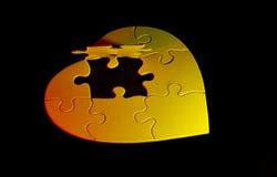 Puzzle del cuore immagini stock libere da diritti