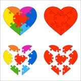 Puzzle del cuore Fotografie Stock Libere da Diritti