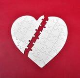 Puzzle del cuore rotto Fotografie Stock Libere da Diritti