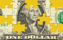 Puzzle del dollaro Fotografie Stock
