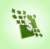 Puzzle del dollaro Fotografia Stock