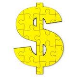 Puzzle del dollaro dell'oro Fotografia Stock
