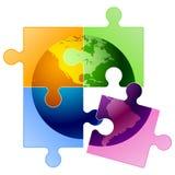 Puzzle del globo   Immagine Stock