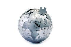 Puzzle del globo Immagini Stock