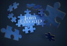 Puzzle del gruppo dell'unire illustrazione di stock