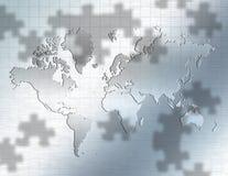 Puzzle del mondo illustrazione vettoriale