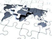 Puzzle del mondo Immagine Stock