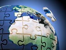 Puzzle del mondo Immagini Stock