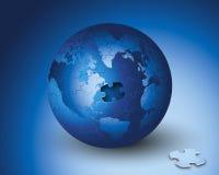 Puzzle del mondo di affari Fotografia Stock