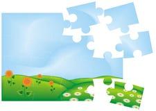 Puzzle del prato di fioritura Immagine Stock Libera da Diritti
