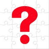 Puzzle del punto interrogativo Fotografie Stock Libere da Diritti