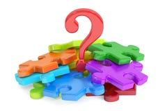 Puzzle del punto interrogativo, rappresentazione 3D Fotografia Stock