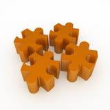 Puzzle del puzzle, 4 Fotografie Stock