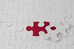 Puzzle del puzzle con la parte mancante Immagini Stock Libere da Diritti