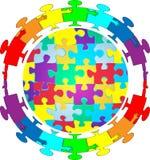 Puzzle del puzzle della gente Fotografia Stock Libera da Diritti