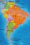 Puzzle del Sudamerica fotografia stock libera da diritti