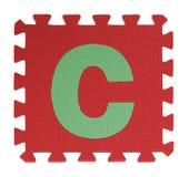 Puzzle del testo di C su fondo bianco, EVA Foam di collegamento, Clipp immagine stock