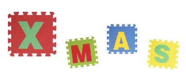 Puzzle del testo x su fondo bianco, EVA Foam di collegamento immagine stock