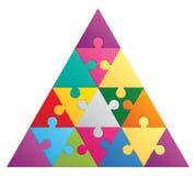 Puzzle del triangolo - 16 parti Fotografie Stock Libere da Diritti