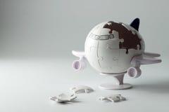 puzzle dell'aeroplano 3D Fotografie Stock Libere da Diritti